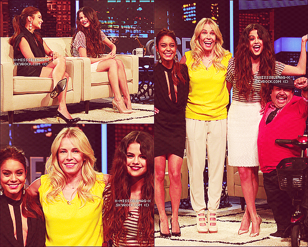 + March 21st  ;   Selena et Vanessa sur le plateau de �Chelsea Lately�. +