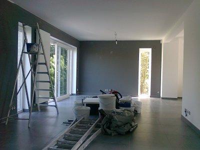 La peinture blog de la casa de notre vie for Deco peinture salon 2 couleurs