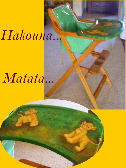 chaise haute du roi lion blog de ninettechat1959. Black Bedroom Furniture Sets. Home Design Ideas