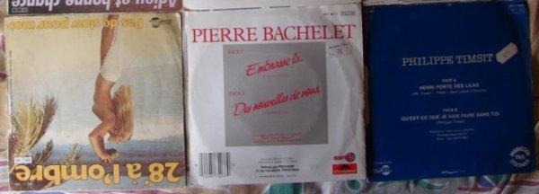 Lot de 9 vinyles sp 45t - Philippe timsit henri porte des lilas ...
