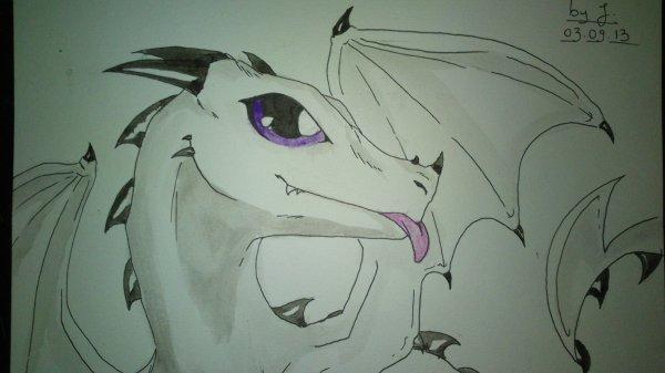 B b dragon la peinture blog de mes dessins manga - Dessin de bebe dragon ...
