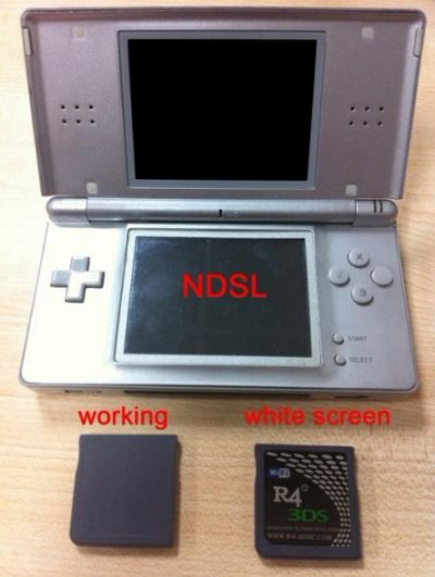 Solution �cran blanc R4i-SDHC 3DS Upgrade