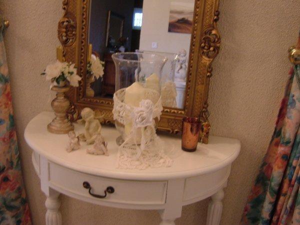 Voici quelques photos de mon salon et salle manger tout est refaire peinture murs et for Salle a manger blanc patine