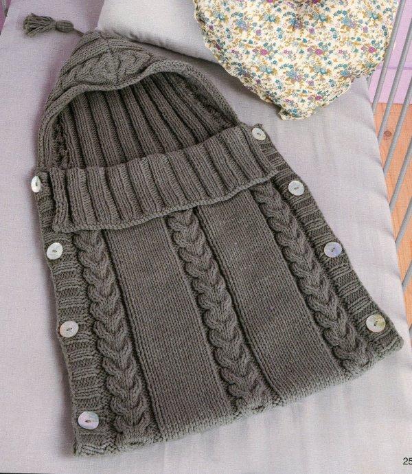 Modele nid d 39 ange bebe modeles tricot et crochet - Patron nid d ange bebe gratuit ...