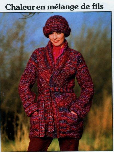 Modele tricot veste femme et son bonnet facile a tricoter modeles tricot et crochet - Modele tricot bonnet femme facile ...