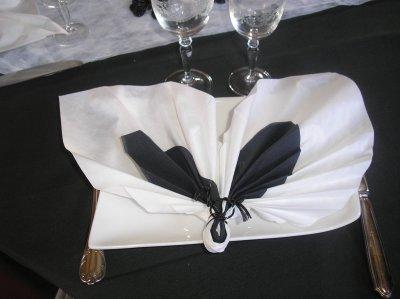 Pliage serviette papier s o s decos Pliage avec 2 serviettes en papier