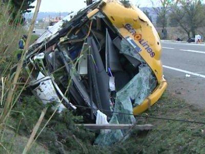15-03-2008 - France -  Accident d'un autocar d' Eurolines