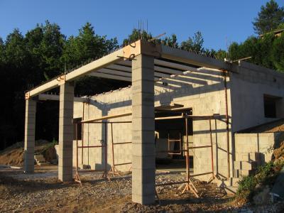 plancher de la terrasse construction de ma future villa. Black Bedroom Furniture Sets. Home Design Ideas