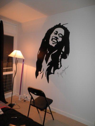 Dinguerie sur le mur de ma chambre les dessins de rachel for Dessin geometrique sur mur