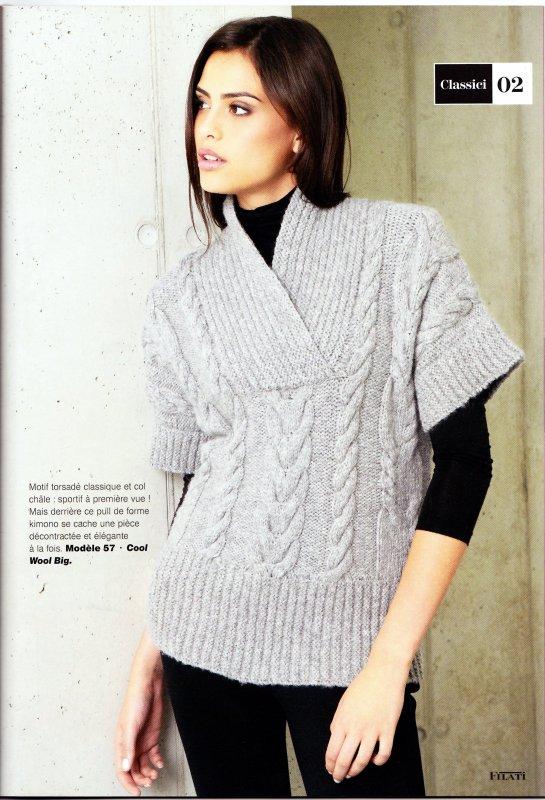 Modele tricot kimono