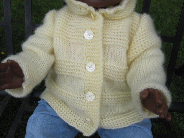 tricoter un manteau pour bebe. Black Bedroom Furniture Sets. Home Design Ideas