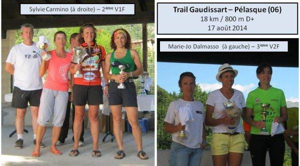 Trail Gaudissart 2014 (P�lasque) – Podiums pour Sylvie Carmino et Marie-Jo Dalmasso