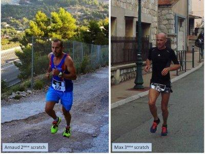 Course du Troph�e 2014 (La Turbie) – Arnaud Folco 2�me, Maximilien Maccio 3�me, Michele Simoncelli 1�re V2, Jocelyne Gubbiotti 1�re V3