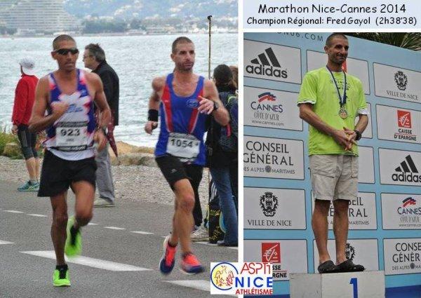 Marathon des Alpes-Maritimes 2014 – Fr�d�ric Gayol Champion R�gional de Marathon
