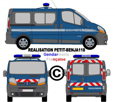 Renault trafic gendarmerie fran aise v hicules de - Comment dessiner un camion de pompier ...