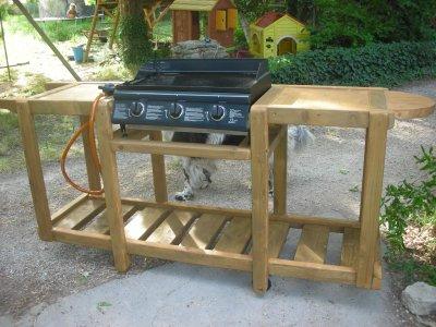 meuble en bois pour une plancha construction roulotte. Black Bedroom Furniture Sets. Home Design Ideas