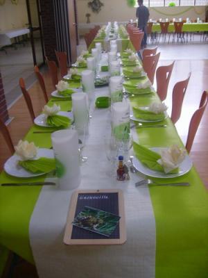 D coration de table ton vert mariez vous - Mariage de couleur avec le vert ...