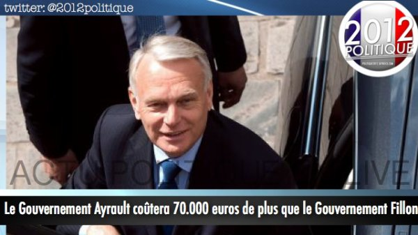 Le Gouvernement Ayrault co�tera 70 000euros de plus que le gouvernement Fillon
