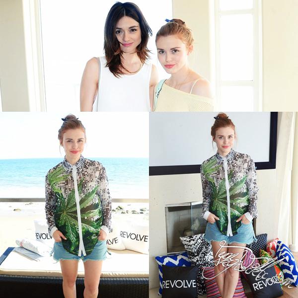 13.07.2013  :   Holland et Crystal ont assist� � la  Resolve Clothing Summer Of Style Party � Malibu. Elles sont toutes les deux tr�s naturelles et sublimes. J'aurai toutefois un petit coup de coeur pour la robe que porte Crystal  !