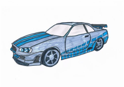 skylin gtr r34 fast and furious bryan le dessinateur de la 5a. Black Bedroom Furniture Sets. Home Design Ideas