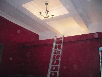 R novation d 39 un plafond caisson enduits platre pour for Plafond de cuisine en platre