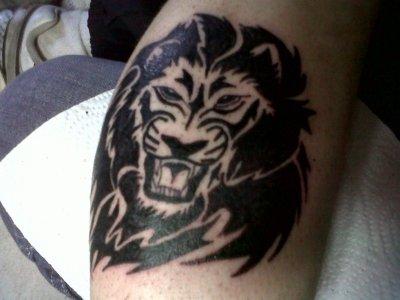 Tete de lion tribal tatouage by fanatik tattoo fanatik tattoo - Tete de lion tatouage ...