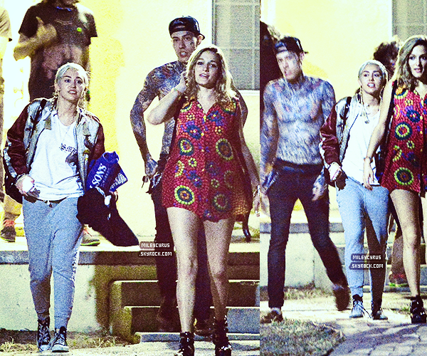 . |12/07/2014 | Candids| Miley � �t� aper�ue quittant le club Warwick � Hollywood !