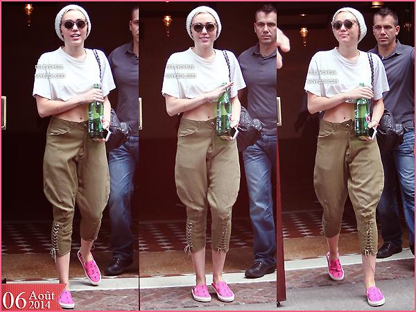 . |06/08/2014 | Candids | Miley quittant son h�tel � New-York. .