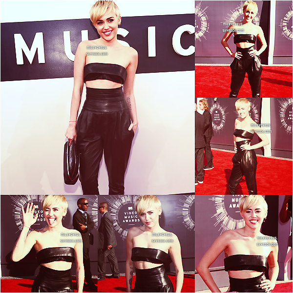 . |24/08/2014 | Apparitions | Miley Cyrus a �t� pr�sente � la c�r�monie des MTV Video Music Awards 2014 ! .