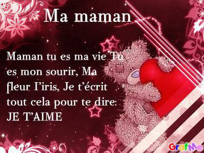 Poeme Amour Maman Anniversaire