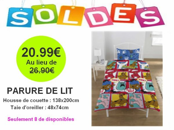 parure de lit 1 personne scooby doo articles enfant. Black Bedroom Furniture Sets. Home Design Ideas