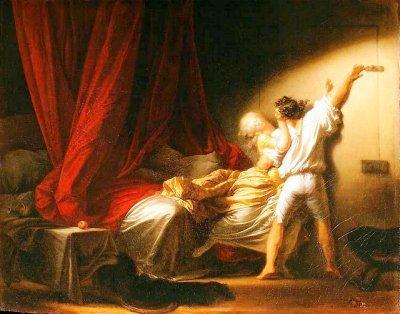 Le verrou peintures et chef d 39 oeuvres - 2 personne qui font l amour dans un lit ...