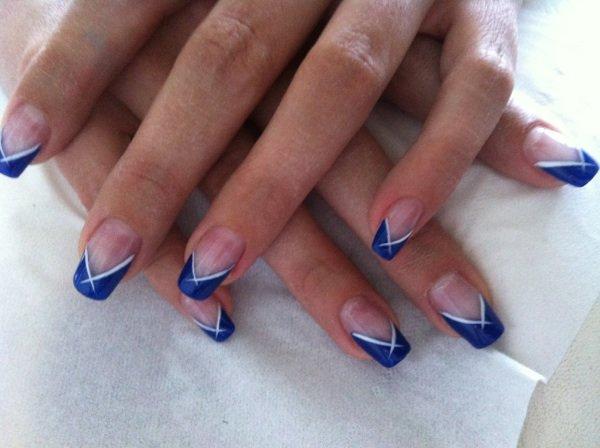 Gel uv bleu for hair nails - Ongle bleu marine ...