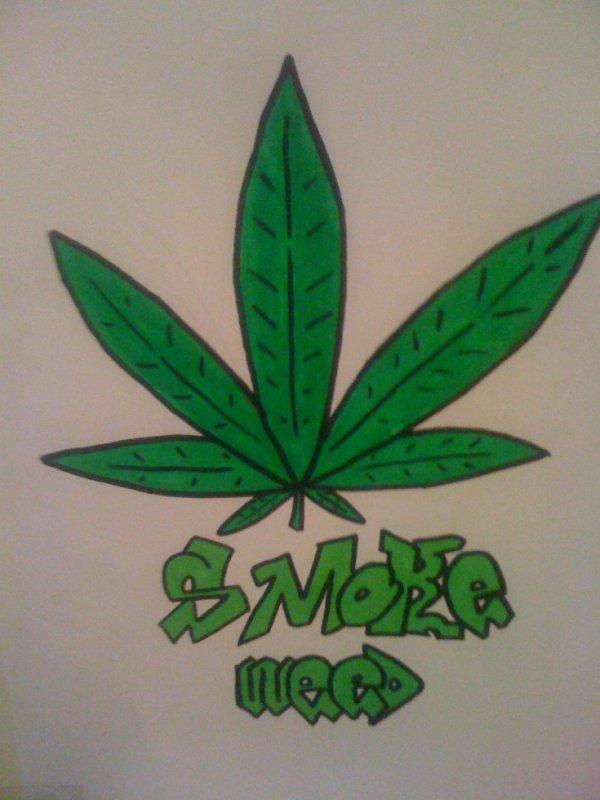 comment dessiner une feuille de cannabis