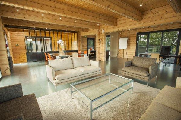 Articles de passiondubois tagg s construction maison bois avec - Maison bois rectangulaire ...