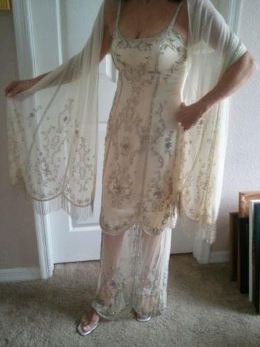 magnifique robe brod e ivoire sue wong t 36 robe de