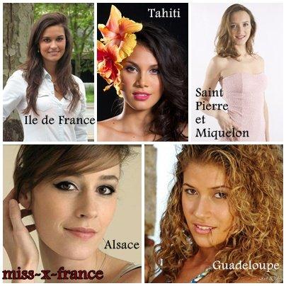 Les candidates � l'�lection de Miss France 2014