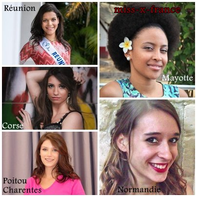 Les candidates � l'�lection de Miss France 2014