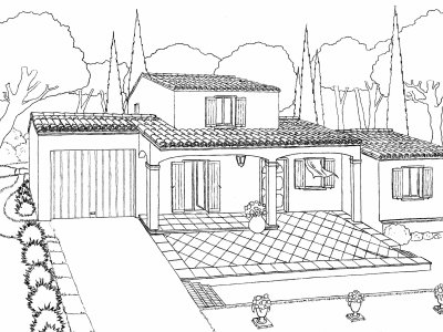 Maison blog dessins a benfares for Dessin de maisons