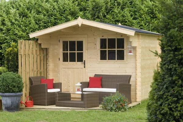 petit chalet abri de jardin 290 x 290 cm blog de kitbois. Black Bedroom Furniture Sets. Home Design Ideas