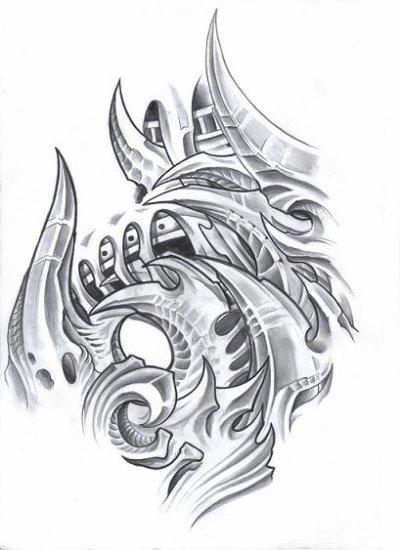 biomech bloodline tattoo
