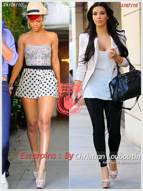 Un Air De D J Vu Rihanna Kim Kardashian Ont Craqu Sur Les M Mes Escarpins Un D Tail Qui