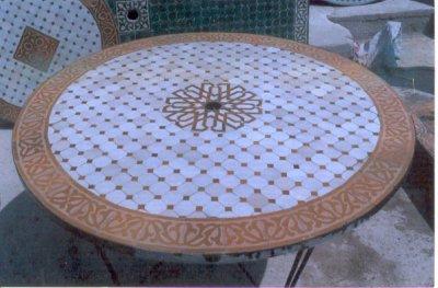 Table Marocaine Mosaique Tables en Zellige Marocain