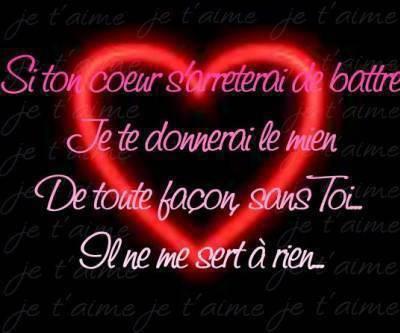 Je t 39 aime mon coeur mouua - Photo de coeur d amour ...