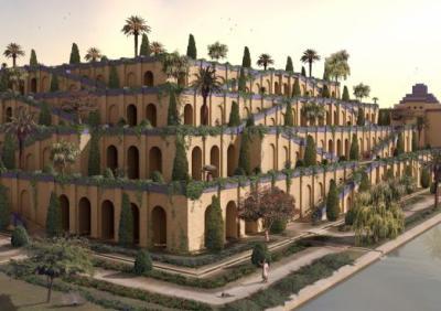 2eme merveille jardins suspendus de babylone 7 merveilles du monde - Jardin suspendus de babylone ...