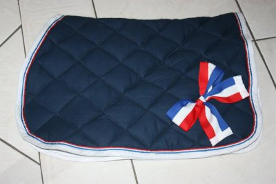 Tapis De Selle Bleu Marine Noeud De France Es Creation