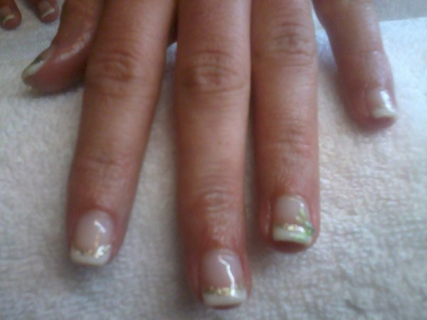 Pose Sur Jenyfer Sur Ongle Naturel Gel Deco Prothesiste