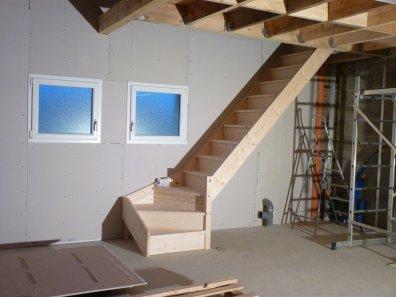 escalier du garage blog de notre future construction