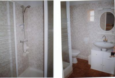 Douche mosa que beige 2 avec pav de verre f marine mcl for Pave verre salle de bain