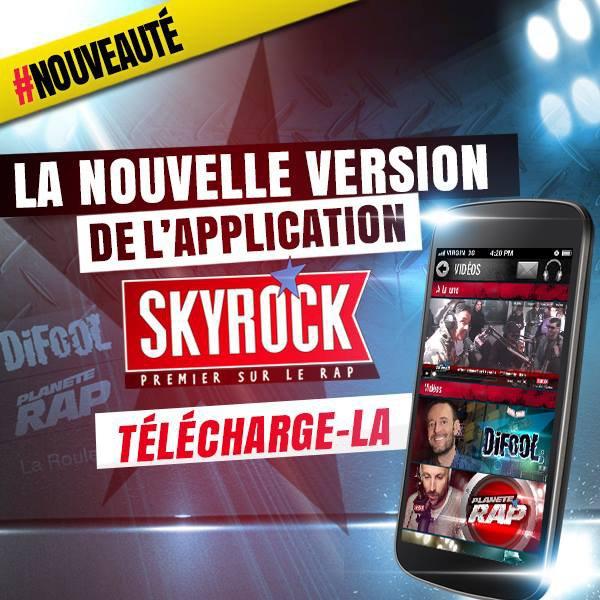 Refonte de l'appli radio Skyrock FM (iOS & Android)